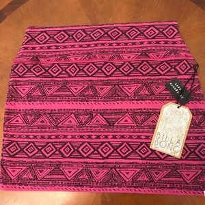 Billabong Designer's Closet tribal print miniskirt